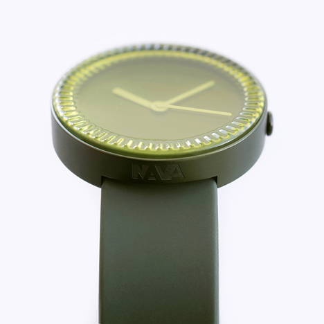 Light shines through the glass bezel to illuminate the watch hands