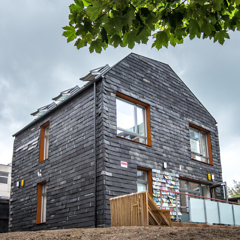 "Waste House by BBM is ""UK's first permanent building made from rubbish"""