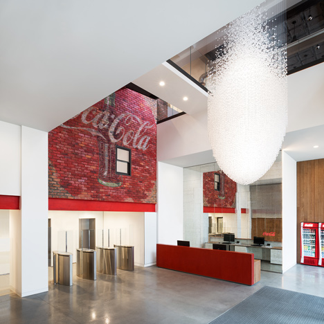 Coca-Cola headquarters by MoreySmith is decorated with vintage memorabilia