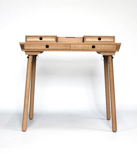 Demetrio Oak Writer's Desk by Kai Venus — One Year On 2013