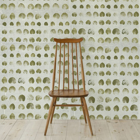Leaf Print Wallpaper by Natalie Ratcliffe