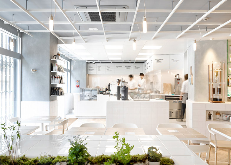 3 of 9 coutume cafe aoyama in tokyo japan by cut - White Cafe Design