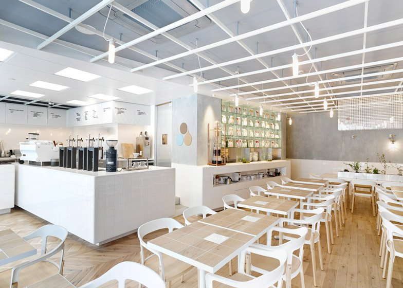 1 of 9 coutume cafe aoyama in tokyo japan by cut - White Cafe Design
