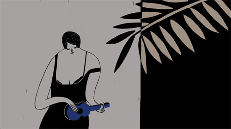 Daniela Sherer animated music video for Tom Rosenthal
