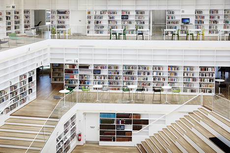 Dalarna Media Library, Falun, Sweden by ADEPT