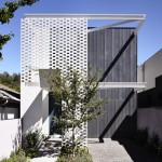 Perforated bricks offer privacy for Melbourne house by Inglis Architects