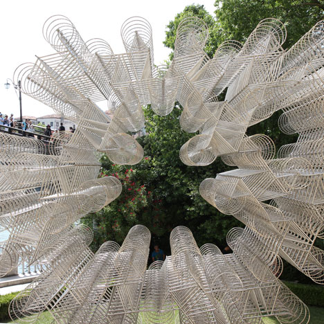 Ai Weiwei's Forever Bicycles installed<br /> at Palazzo Franchetti in Venice