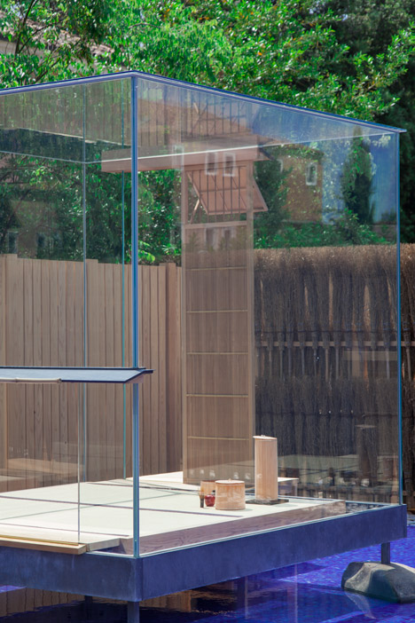 Glass Tea House Mondrian from Venice Architecture Biennale by Hiroshi Sugimoto