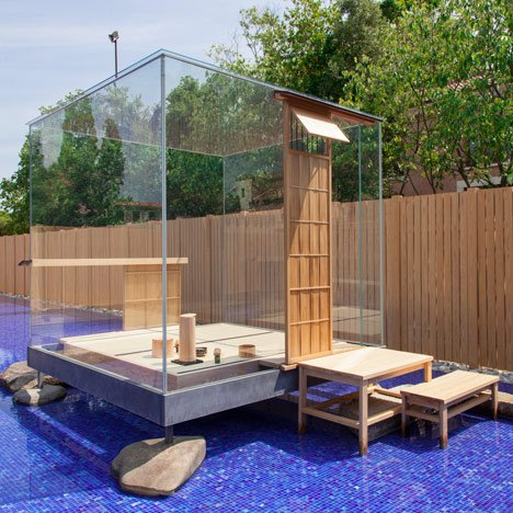 Hiroshi Sugimoto's glass cube hosts Japanese tea ceremonies in Venice