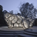 University of Stuttgart unveils carbon-fibre pavilion based on beetle shells