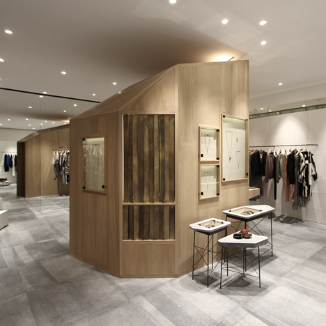 Ciguë builds a wooden cabin in the middle of Isabel Marant's Shanghai boutique