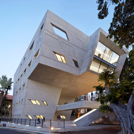 Zaha Hadid uses concrete and cantilevers for Issam Fares Institute in Beirut