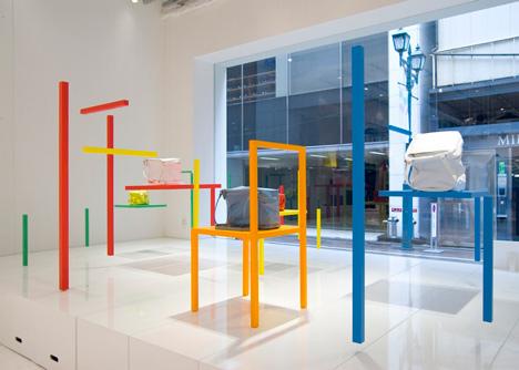Issey Miyake window installation by Yoichi Yamamoto Architects
