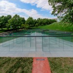 Glass panes form transparent labyrinth by Robert Morris