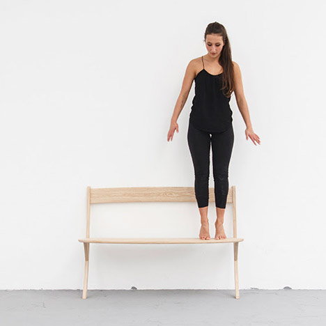 Leaning Bench by Izabela Boloz