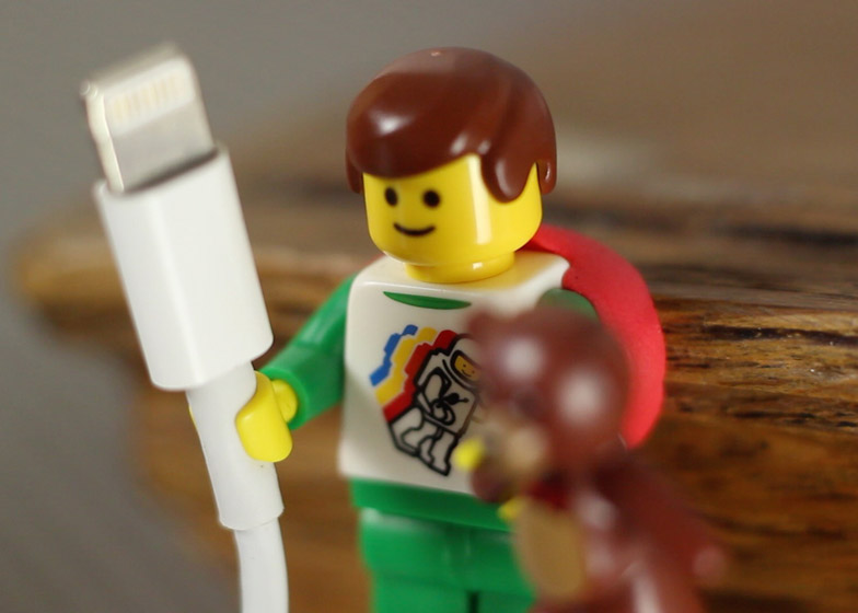 Lego and Sugru cable holders