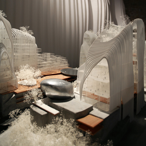 MAD presents Nanjing masterplan at mountain-like Venice installation