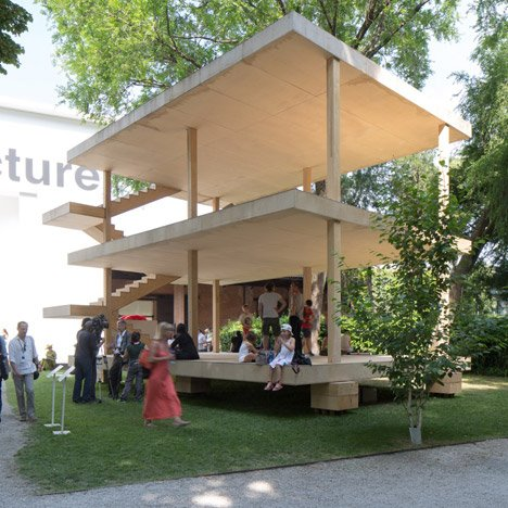 Le Corbusier's Maison Dom-ino realised at Venice Architecture Biennale by the Architectural Association
