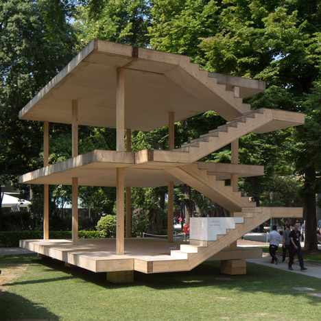 Le Corbusier's Maison Dom-ino realised<br /> at Venice Architecture Biennale