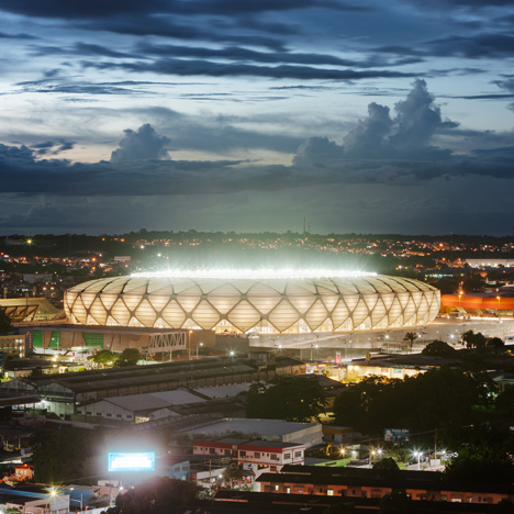 Manaus stadium by GMP Architekten<br /> hosts four World Cup football matches
