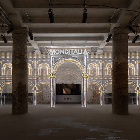 "Rem Koolhaas uses architecture, dance and film to represent the ""current condition of Italy"""