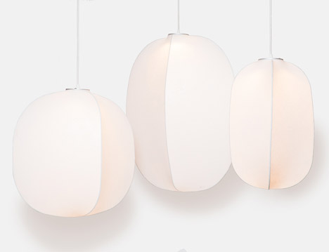 Mori pendant lamps by Rich Brilliant Willing