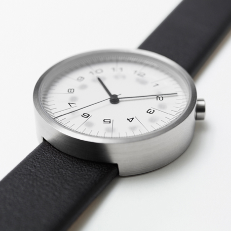 Scale watches by Nendo mark the time with ruler increments