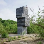 Modulorbeat creates One Man Sauna inside a stacked concrete tower
