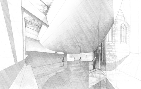 Interior sketch of PFP-Planungs-GmbH-Hamburg-Germany-School-in-Genoa