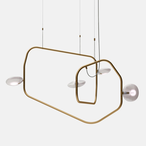 Palindrome chandelier by Rich Brilliant Willing