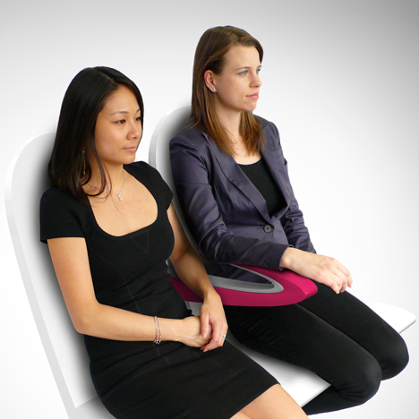 James Lee designs Paperclip Armrest to end elbow grapples on the plane