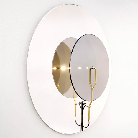 Perspectives mirrors by Studio Atùppertù bounce light between reflective layers