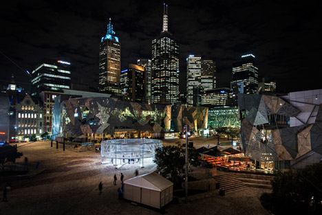 Radiant Lines Federation Square project by Asif Khan
