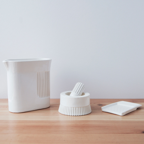 Visibility uses porcelain to create kitchen tools in first homeware collection