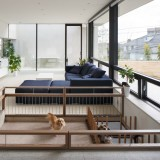 Playpen for dogs installed within Soichi Yamasaki's S Residence