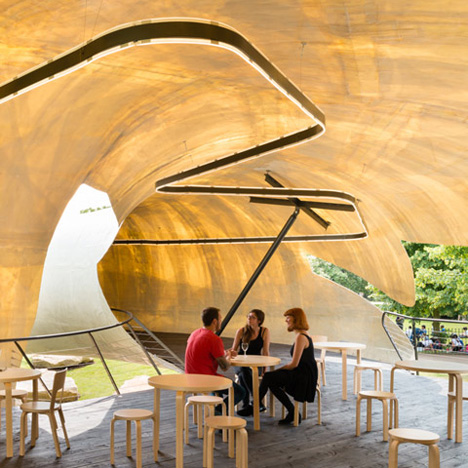 "Smiljan Radić's Serpentine Gallery Pavilion looks like a crude model ""made by a giant"""
