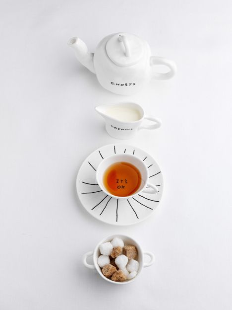 Sketch crockery by David Shrigley