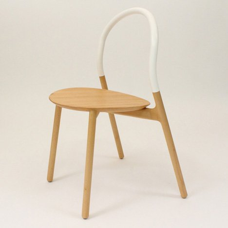 Joe Doucet launches wooden Sling Chair with supple silicone backrest