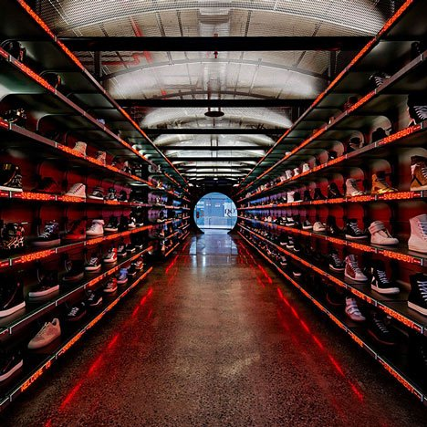 Sneaker store in Melbourne by March Studio features tunnel-like interior