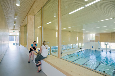 Swimming pool complex Maastricht by Slangen + Koenis Architecten