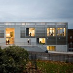 London youth centre by RCKa features a translucent polycarbonate facade