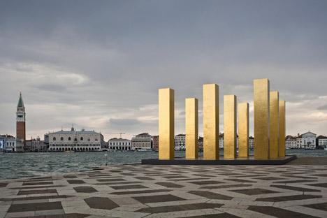The Sky over Nine Columns by Heinz Mack