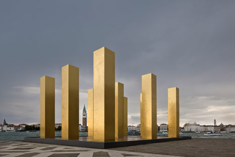 The Sky over Nine Columns by Heinz Mack