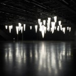 Jamie Zigelbaum's acrylic stalactite lights respond to movement underneath