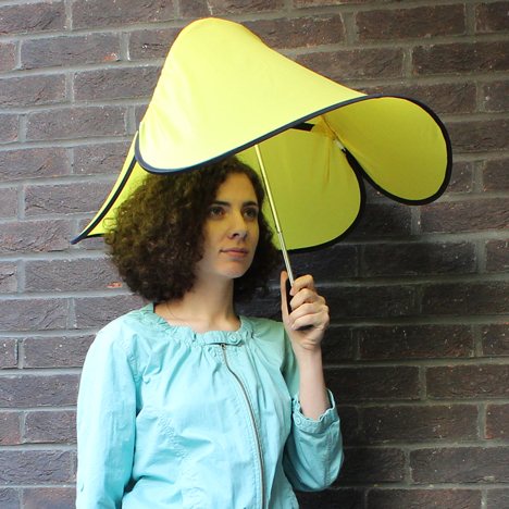 Drop umbrella by Ayca Dundar is made of just six parts