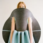 Valeska Jasso Collado folds latex-covered foam into geometric garments