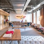 Studio O+A designs exposed brick and concrete headquarters for Yelp in San Francisco