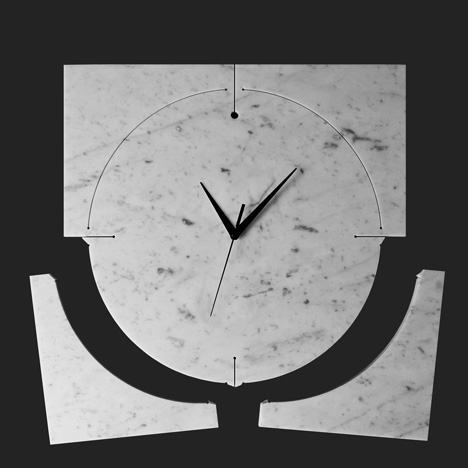 40x40 collection by Paolo Ulian and Moreno Ratti Quadrondo clock
