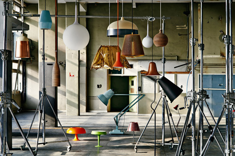 Lighting inside The Sorting Office – Above: chairs by Johansson Design