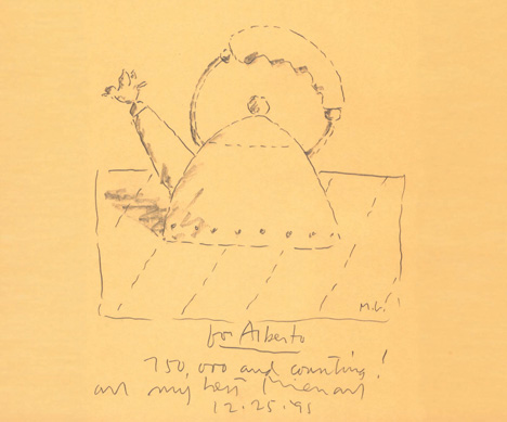 Sketch by Michael Graves for the 9093 kettle